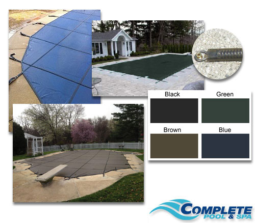 Pool safety covers complete pool spa london ontario for Lazy l shaped pool covers